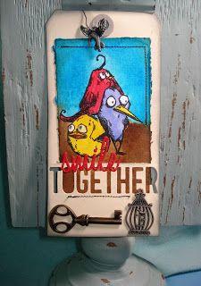 Smile Together - (Tim Holtz 12 Tags of 2016, July tag version 2