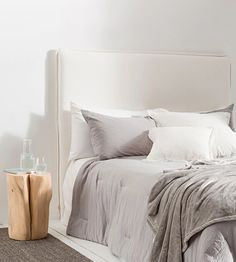 Kitchen, Dining, Bathroom and Bedroom Products – Page 11 – Father Rabbit Limited Home Bedroom, Dream Bedroom, Bedroom Decor, Bedroom Ideas, Master Bedroom, Linen Headboard, Linen Bedding, Headboard Ideas, Headboards