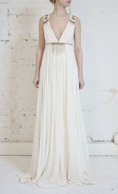 Silk Grecian Dress #greek #style #dress #grecian Wedding Inspiration! | Big Fashion Show grecian dresses