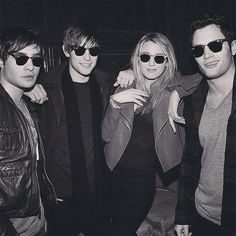 Ed Westwick, Chace Crawford, Blake Lively and Penn Badgley