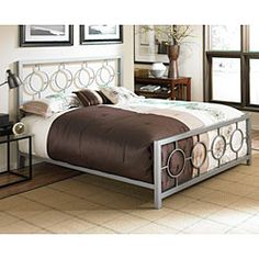 This is so fun!! @Overstock - Soho bed is contemporary in design Furniture features square tubing on headboard and footboard Full-size bed has an ultra-modern stylehttp://www.overstock.com/Home-Garden/Soho-Full-size-Bed/4233663/product.html?CID=214117 $249.99