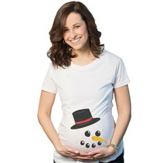 f072c660a Maternity Snowman Face Tee Announce Pregnancy Funny Christmas Pregnant T  shirt #fashion #clothing #