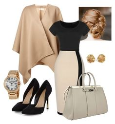 """Another Work Day"" by saraihe ❤ liked on Polyvore featuring Burberry, Cartier, Gucci and modern"