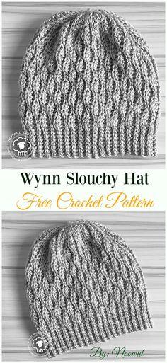 f5c429721fb Crochet Slouchy Beanie Hat Free Patterns Tutorials