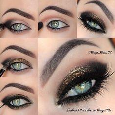 Hot Smoky Eye With Copper Glitters #Fashion #Trusper #Tip
