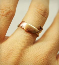 Brass & Sterling Silver Whale Ring   Jewelry Rings   I Adorn U   Scoutmob Shoppe   Product Detail