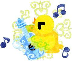 フリーのイラスト素材ギターを弾いている不思議な模様の可愛い小鳥  Free Illustration A cute little bird of mysterious design which plays the guitar   http://ift.tt/2jgBrzA