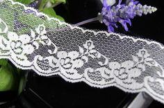 "2½"" Floral Ivory Scalloped Lace Trim | Lace Trim Scalloped Lace, Lace Trim, 21st, Ivory, Pretty, Floral, Color, Fashion, Moda"