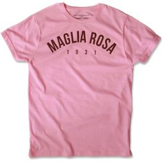 The famous Maglia Rosa in the more acceptatble T-Shirt form.