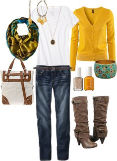 Mustard and teal fall