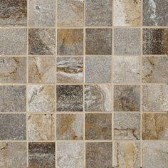 """Marazzi Vesale Stone Smoke Mosaic 2"""" x 2"""""""