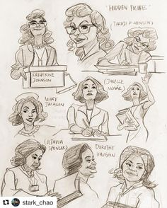 """Hidden Figures on Instagram: """"#Repost @Stark_Chao: If you don't know what I'm drawing, it can be either A, I'm terrible, or B, you need to check out the theater.…"""""""