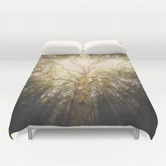 Buy ultra soft microfiber Duvet Covers featuring I found a tree in the forest by HappyMelvin. Hand sewn and meticulously crafted, these lightweight Duvet Cover vividly feature your favorite designs with a soft white reverse side.