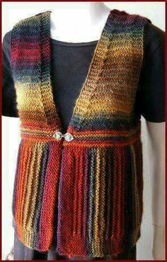 KNITTED Mochi Plus Easy Vest - Crystal Palace Yarns - free knit vest pattern - convert to crochet! Knitting Patterns Free, Knit Patterns, Free Knitting, Free Pattern, Pull Crochet, Knit Crochet, Knit Vest Pattern, Knitting For Beginners, Knitting Yarn