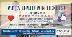 WIN TICKETS @daretolearnfin next week! Like and leave comment  Sponsored by #ctouch #interactive #displays #learning #education #event #finland #helsinki