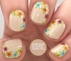 One Nail To Rule Them All: Side Florals for Divine Caroline