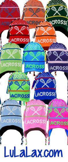 Lacrosse Fleece Lined Knit Hats from LuLaLax.com - 21 colors available!