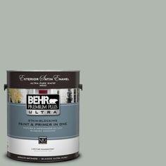 BEHR Premium Plus Ultra 1-Gal. #UL210-7 Verdigris Interior Satin Enamel Paint-775401 - The Home Depot