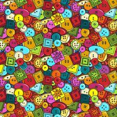 button graffiti  fabric by scrummy on Spoonflower - custom fabric