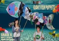 fish puppet - Google Search Middle School Art, Art School, Secret Theatre, Seussical Costumes, Giant Fish, Under The Sea, The Little Mermaid, Puppets, 3 D