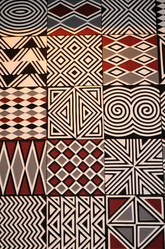Fabric Patterns Imigongo style artwork at Nyungwe Forest Lodge, Rwanda - Decorative pattern at Nyungwe Forest Lodge Ethnic Patterns, Textile Patterns, Print Patterns, African Patterns, Japanese Patterns, Floral Patterns, Arte Tribal, Tribal Art, Tribal Pattern Art