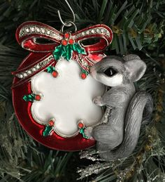 Sugar Glider Photo Frame Christmas Ornament by SculptureRealm on Etsy