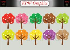 Set of 10 of various colours in a PNG format. Personal & Small Commercial use Autumn Fall Trees Clipart. Set of 10 of various colours in a PNG format.