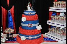 """Le mariage """"Canadiens"""" d'Haley et Matthew. / Haley and Matthew's Canadiens' themed wedding. Soumis par / Submitted by Haley Kinden #GoHabsGo"""