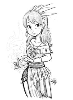 Tribal Girl sketch by LuigiL on deviantART
