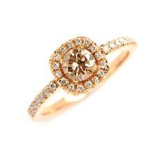Vackra ringar i roséguld - Aurumforum Michael O dwyer Goldsmith. Champagne  Diamond edd119049f00f