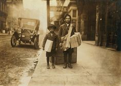 When eight-year-olds worked the streets: Lewis Hine's portraits of young workers in America