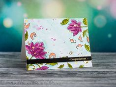 Floral Watercolors - a beautiful card by Heather!