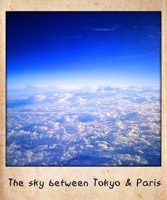 The sky between Tokyo and Paris