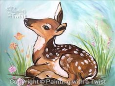 Spring Fawn  #PWAT  #PaintingWithATwist