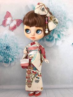 Blythe Outfit 着物でお出掛け♪ おめかしコーデセット youneの着物_画像2