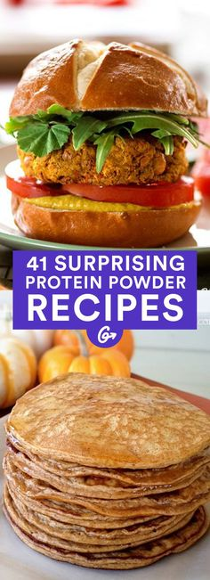 41 Sneaky Ways to Add Protein Powder Into Every Meal Protein powder isn't only for shakes—it can also be used to make a variety of dishes, from muffins and cupcakes to burgers and lasagna to dips and doughnuts—and more! Whey Protein Recipes, Whey Protein Smoothies, Healthy Protein Snacks, Protein Cake, Protein Powder Recipes, Healthy Shakes, Healthy Eating, Healthy Recipes, Protein Cookies