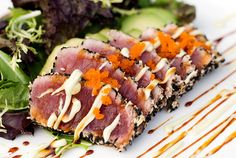 Ahi Tuna Pan-Seared Sesame-Crusted