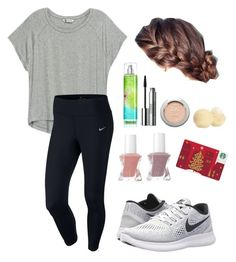"""""""OOTD~should I do a contest? """" by laurenek006 ❤ liked on Polyvore featuring L'Oréal Paris, Clinique, NIKE, Essie and Bobeau"""