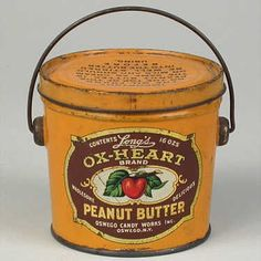 Antiques Decorative Tins | Antique Decorative & Advertising Tins, Signs... / LONG'S OX-HEART TIN ...