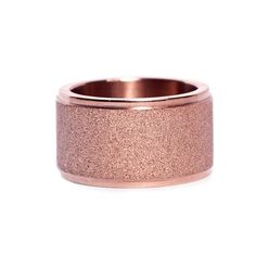 """Ring """"Mist"""" by Edblad - Wide stainless steel ring with rose gold platnig. Glitter polished surface with glossy edges."""