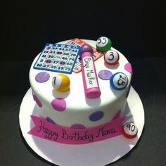 Bingo cake hahaha love this for You and Jordan.