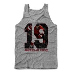 Jonathan Toews Game K Chicago Officially Licensed NHLPA Men's Tank Top S-XL