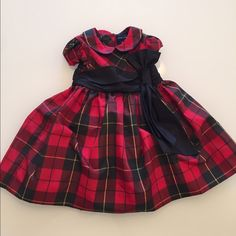 Baby Girl Ralph Lauren Dress Baby girl Ralph Lauren dress. Size 9 months. Adorable holiday dress! Worn once! Purchased from Bloomingdales. Perfect condition. Comes with matching bloomers. No trades! Bundle to save. Thanks! Ralph Lauren Other
