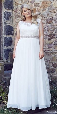 plus size bridal 2016 cap sleeves thick straps sweetheart illusion jewel a line lace bodice wedding dress / http://www.himisspuff.com/plus-size-wedding-dresses/