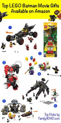 New Lego Batman Movie LEGO Sets & Accessories on Amazon Batman Toys For Kids, Lego Batman Movie, Travel Items, Travel Gifts, Amazon Lego, Activities For Boys, Movie Gift, Books For Boys, Christmas Gift Guide