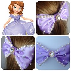 Hey, I found this really awesome Etsy listing at https://www.etsy.com/listing/199009152/handmade-hair-bow-princess-sofia-from