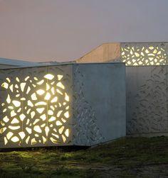 Boxes of concrete.