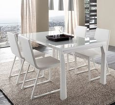 Amazing Sapphire White Prisma Dining Table R348203000117 From Rossetto Awesome Design