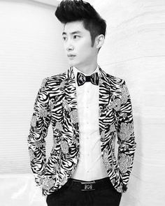 Embroidered men's bow tie Black white animal от accessories482