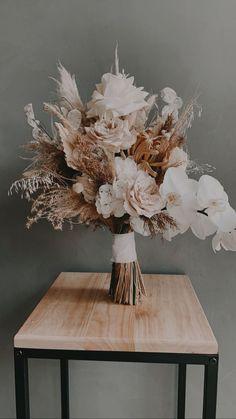 Boho Wedding Bouquet, Floral Wedding, Fall Wedding, Our Wedding, Dream Wedding, Neutral Wedding Flowers, Dried Flower Arrangements, Dried Flowers, Fresh Flowers